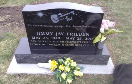 Jet Black Monument with Laser Etching
