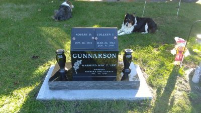 Jet Black Cremation Memorial